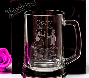 Beer Mug wedding Glass
