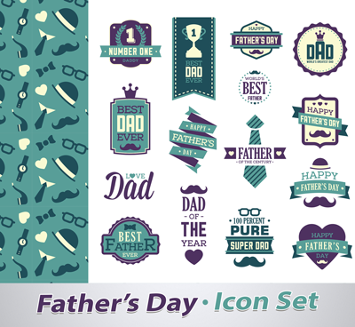 Fathers Day 2019 Icon Set