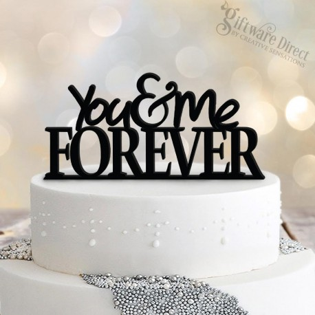 You & Me Forever Standard acrylic wedding cake topper