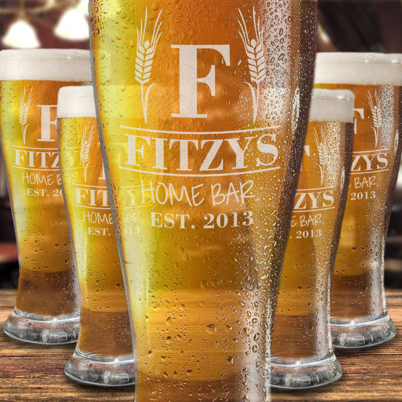 Personalised Engraved Pint Glass birthday wedding 54 christmas gifts