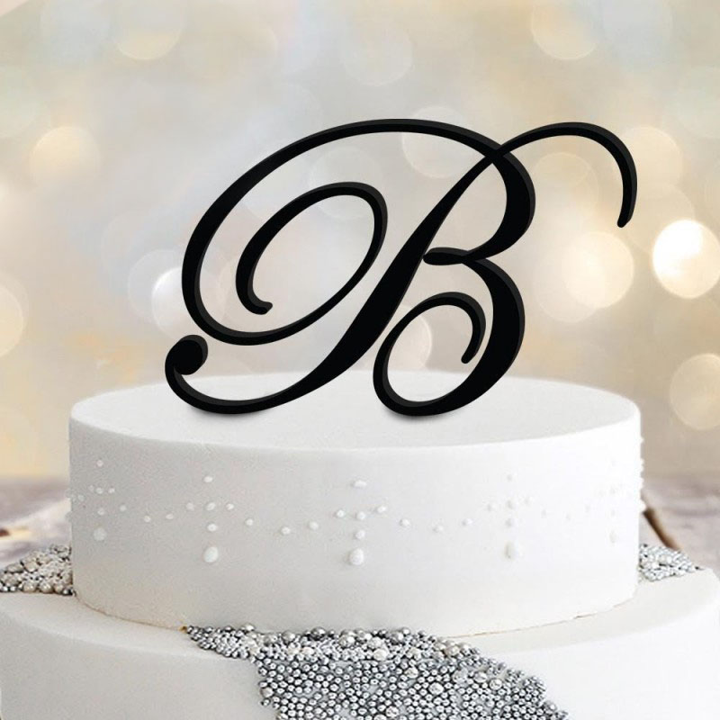 large-initial-monogram-cake-topper-acrylic-or-timber