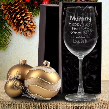 Personalised Christmas Beer mug with laser engraving design