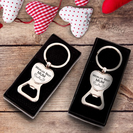 Worlds Best Mum Chrome Heart Keyring