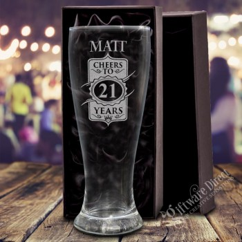 Engraved 420ml Birthday Schooner Glass