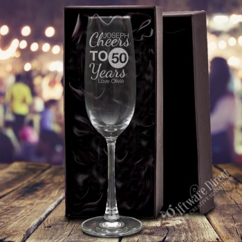 Engraved 215ml Personalised Birthday Champagne Glass