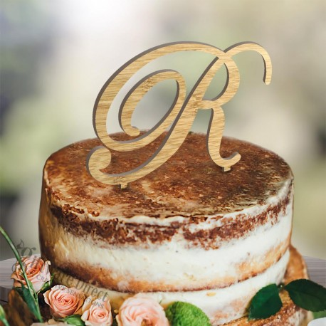 monogram_initial_cake_topper_initial_script_wedding_australian_made