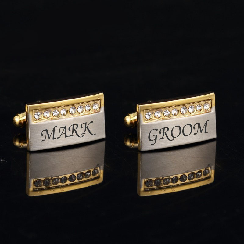 engraved-euro-style-goldsilver-cufflink-set