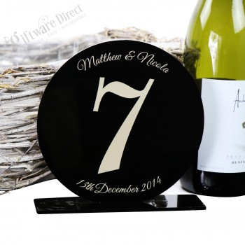 Acrylic Wedding Table Number Gloss Finish Freestanding