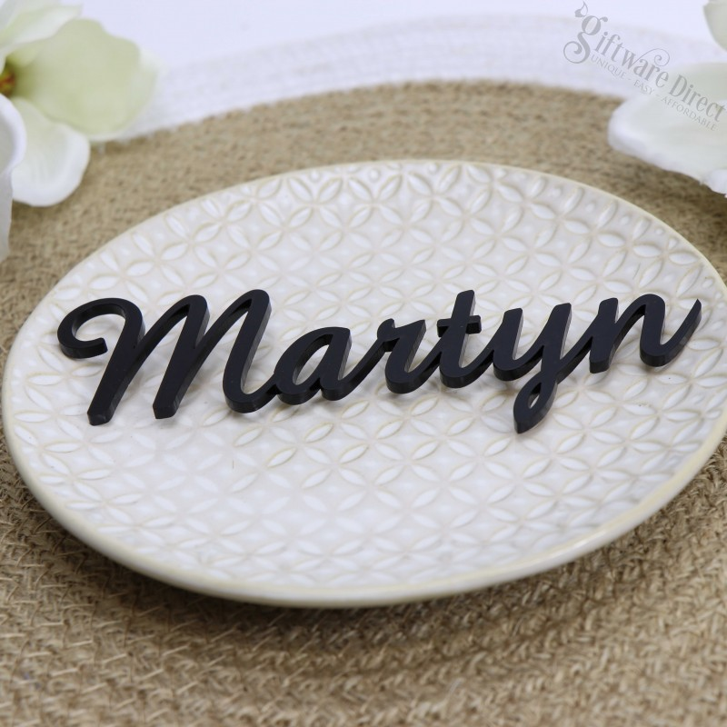 Laser Cut Acrylic Wedding Placecards. Unique And Cheap
