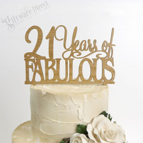 21 Fabulous Birthday Bamboo Cake Topper Any Age