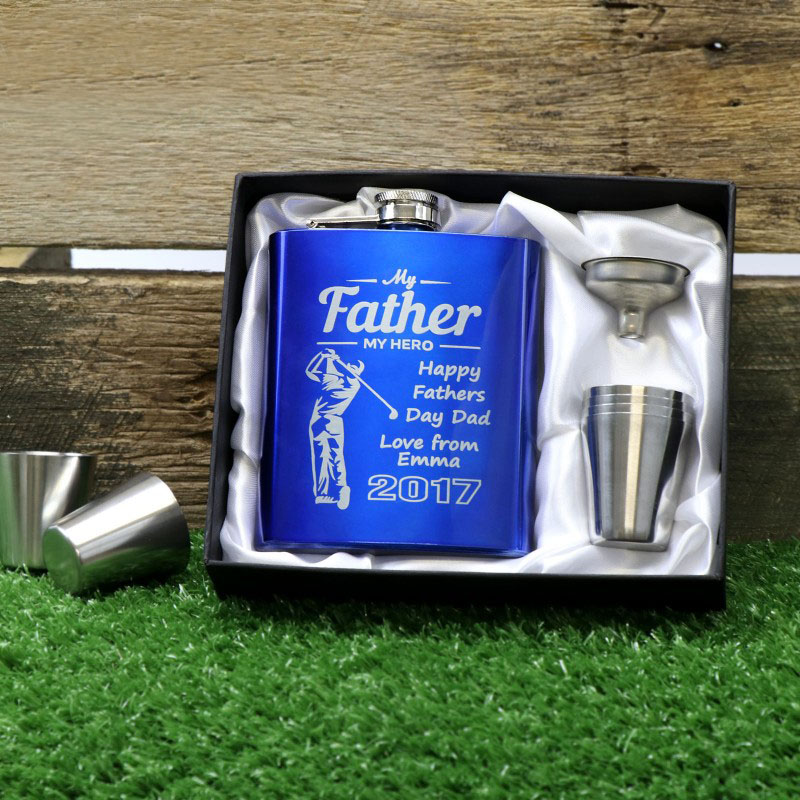 fathers-day-7oz-blue-hip-flask-gift-set-personalised