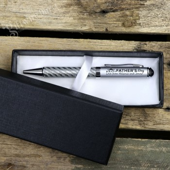 Carbon Fiber Fathers Day Engraved Pen Set