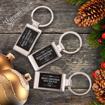 Christmas Engraved Gift Boxed Keyring Happy New Year 2015