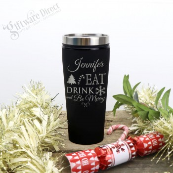 Thermal Engraved Coffee Travel Mug Personalised Christmas Gift