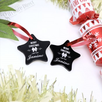 Engraved Personalised Acrylic Christmas Gift Tags