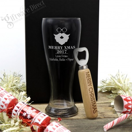 Exclusive Christmas Schooner Glass Pack + Free Bottle Opener