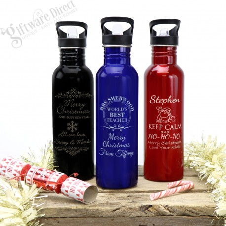 Christmas Engraved 800ml Stainless Steel Drink Bottle
