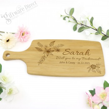 Wedding Personalised Engraved Heavyweight Wooden Chopping Board