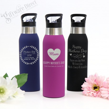 db1e89de3c Engraved Personalised Stainless Steel Drink Bottle Mothers Day
