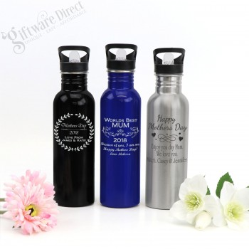 Engraved Stainless Steel Deluxe 800ml Drink Bottle Mothers Day