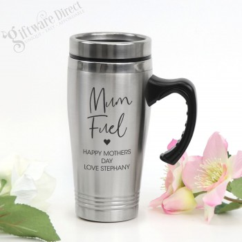 Engraved Personalised Stainless Steel Travel Mug Mothers Day
