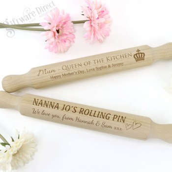 Personalised Mothers Day Rolling Pin