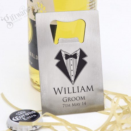 Credit Card Bottle Opener Stainless Steel for Weddings with Gift Box