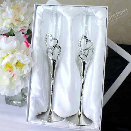 512c2bf5a311 Reduced price! personalised engraved rhinestone bling toasting flutes with  personalised engraving