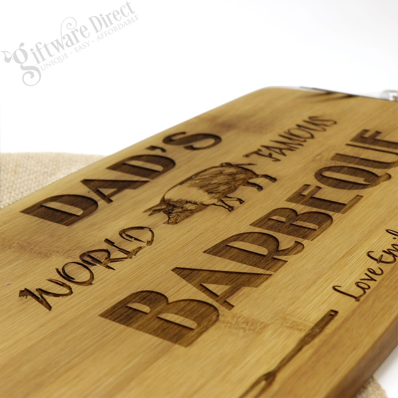Fathers Day Engraved Wooden Cutting Board Chopping