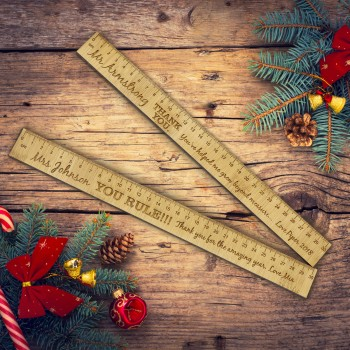 Teachers Bamboo Ruler Engraved Personalised Christmas Gift