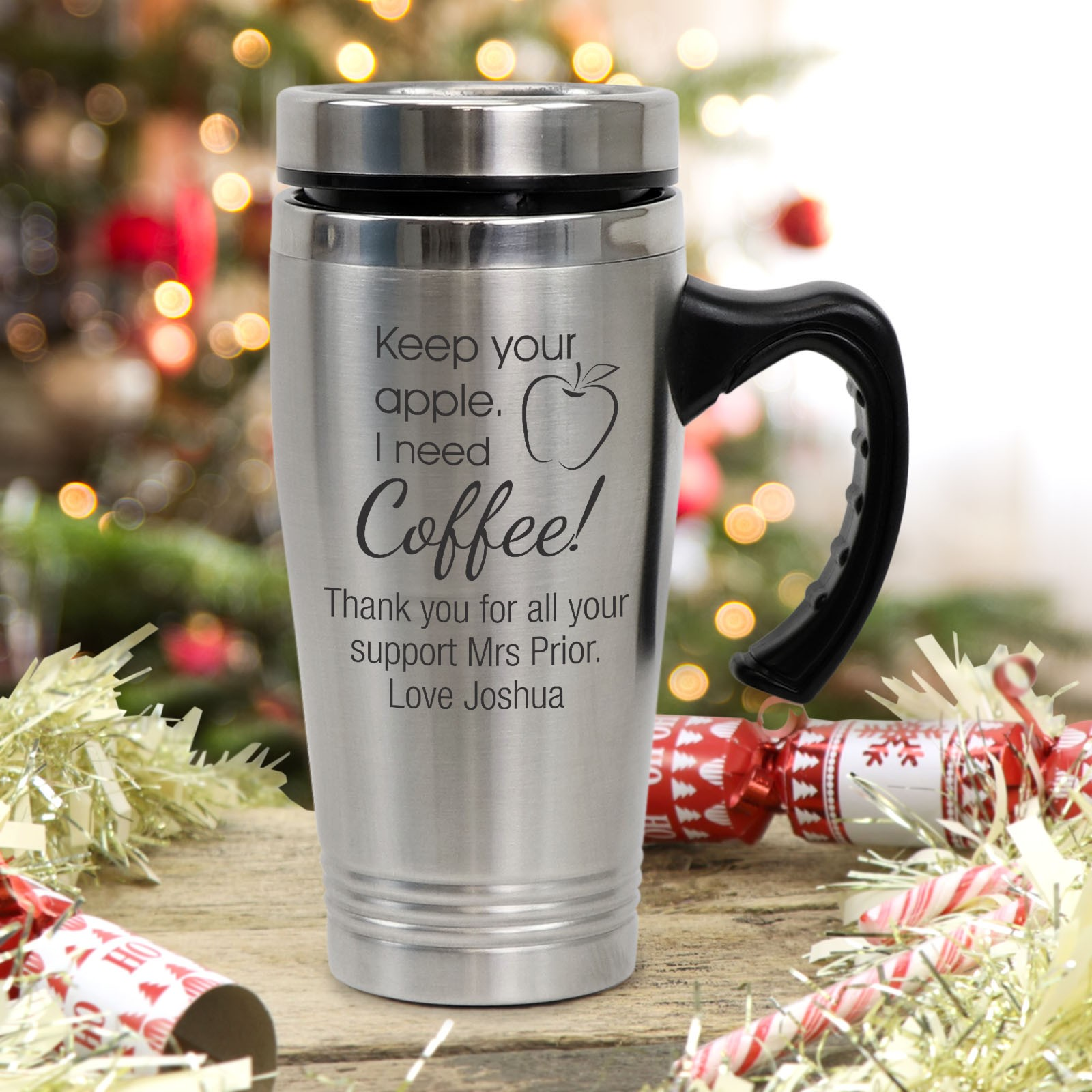Personalised Stainless Steel Tankard /& Gift box Engraved Fathers Day Gifts