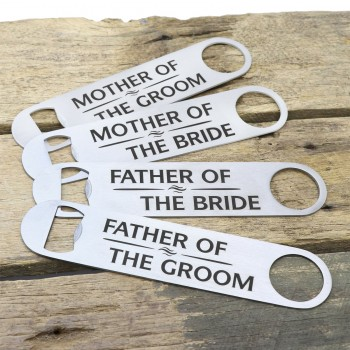Engraved Stainless Steel Bottle Opener Waiters Friend Wedding Gift
