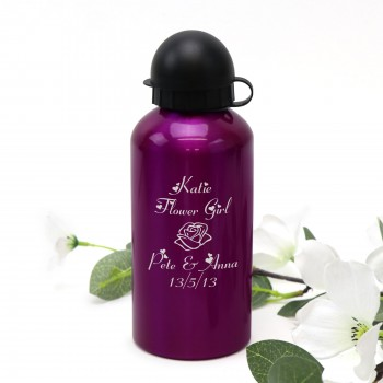 Engraved Personalised Drink Bottle Purple