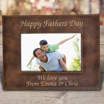 Engraved Photo Frame Gift with Designs for Fathers Day, Mothers Day and Christmas