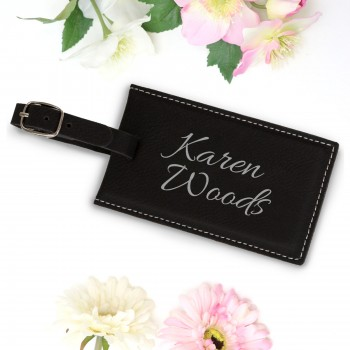Engraved Black Luggage Tag Mothers Day Gift