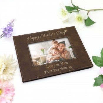 Engraved Photo Frame Personalised Mothers Day Gift