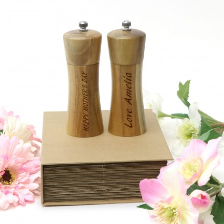 Personalised Salt and Pepper Grinder Set