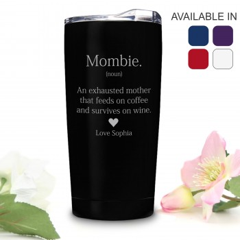 Vacuum Coffee Travel Mug 600ml Engraved Mothers Day Personalised Gift