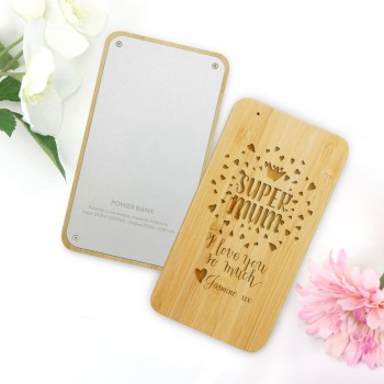 Engraved Portable Charger - Personalised Mothers Day Gift