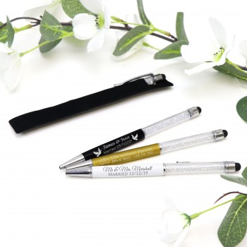 Personalised Engraved Crystal Metal Pen
