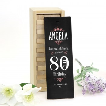 Personalised Jenga Birthday Gift or Birthday Guest Book