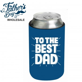 Best Dad Blue Stubby Holder Fathers Day School Fundraising Gift