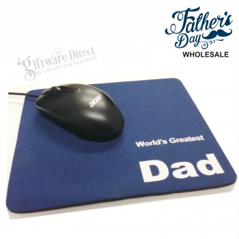 Worlds Greatest Dad Mouse Mat for Fathers Day