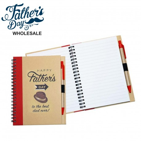 Enviro Notebook with Pen Small Printed Fathers Day Best Dad Ever