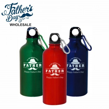500ml Aluminium Water Bottle Engraved Fathers Day Wholesale School Fundraising Gift