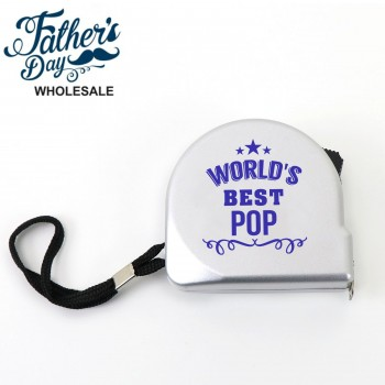 3m Tape Measure World's Best Pop Fathers Day School Fundraising Gift