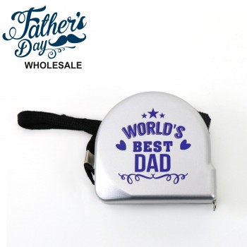 Tape Measure World's Best Dad Design Fathers Day School Fundraising Gift