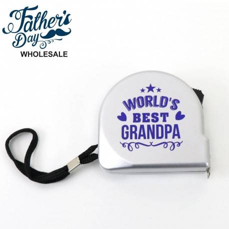 3m Tape Measure World's Best Grandpa Fathers Day School Fundraising Gift