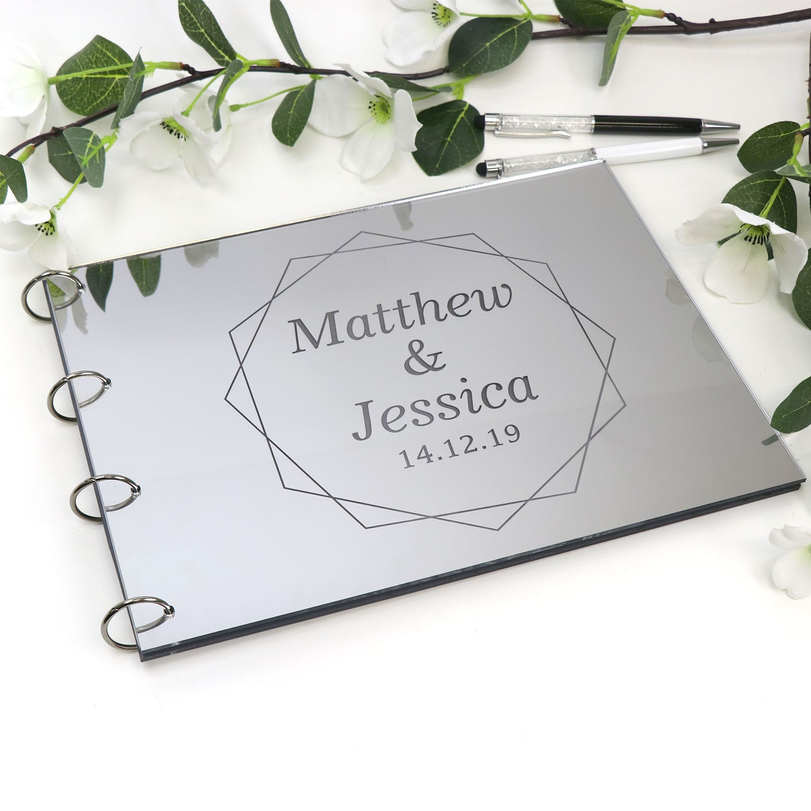 Australian Prints Silver Wedding Sign Silver foil sign for Cards /& Gifts