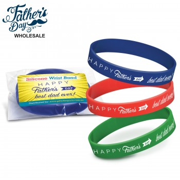 Fathers Day Wristbands Mixed Colours Wholesale or School Fundraising Gift